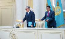 Касым-Жомарт Токаев на пресс-конференция в Акорде, архивное фото