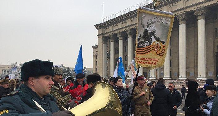 Марш Нас миллионы панфиловцев