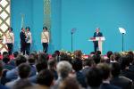 Инаугурация избранного президента Казахстана Касым-Жомарта Токаева проходит сегодня, 12 июня, в столице Казахстана во Дворце Независимости