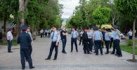 Несанкционированный митинг в Алматы на площади Астана