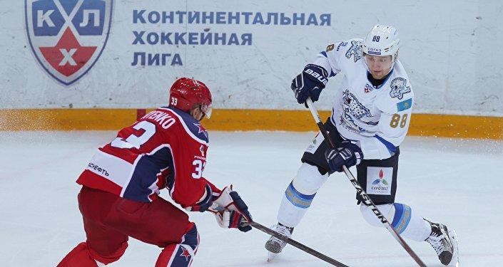 Архивное фото матча Барыс - ЦСКА