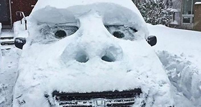 Аномальный снегопад в Алматы