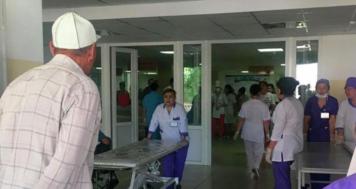 Первая клиническая больница Шымкента, где сейчас принимают пострадавших в результате взрывов в Арыси