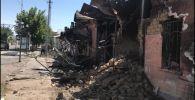 Разрушенные взрывами улицы Арыси, архивное фото