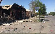 Разрушенные взрывами улицы Арыси