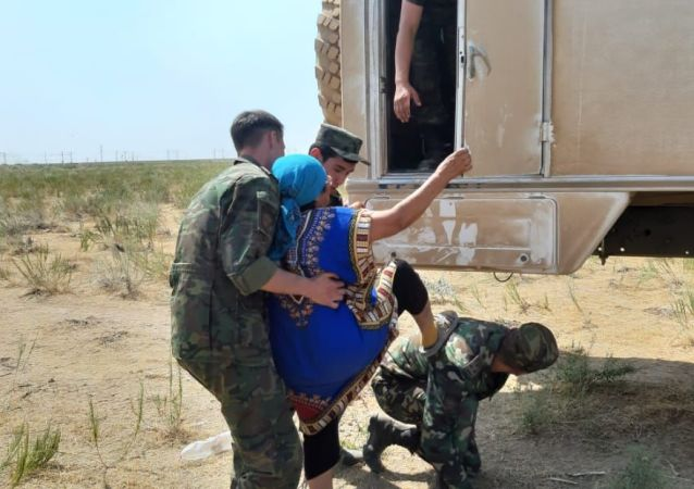 Эвакуация населения из города Арысь в Шымкент