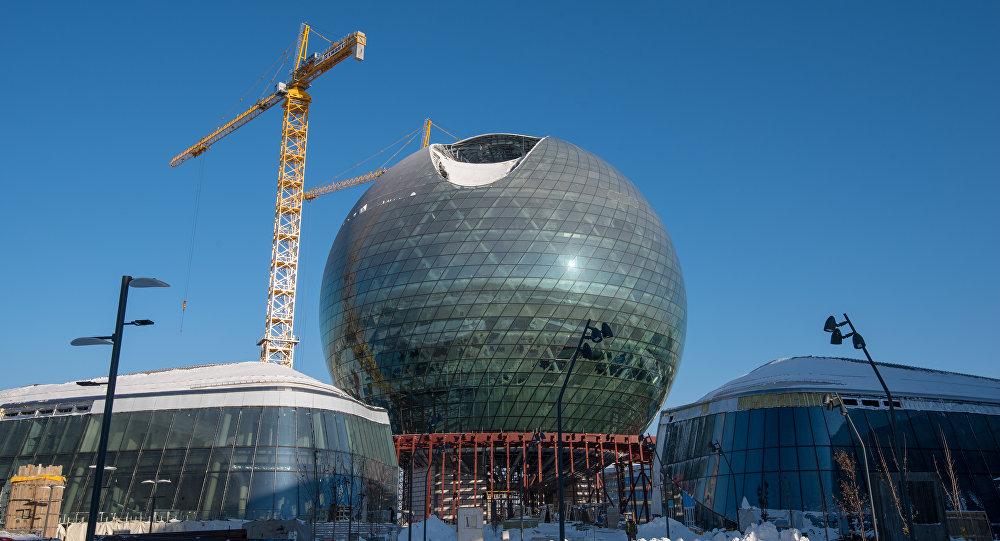 Строительство главного павильона выставки ЭКСПО-2017