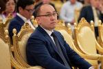 Даурен Аскербекович Абаев - министр информации и общественного развития Республики Казахстан на торжественной церемонии поздравления представителей СМИ
