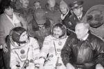 Нурсултан Назарбаев встретил космонавтов Талгата Мусабаева, Юрия Малеченко, Улифа Мербольда