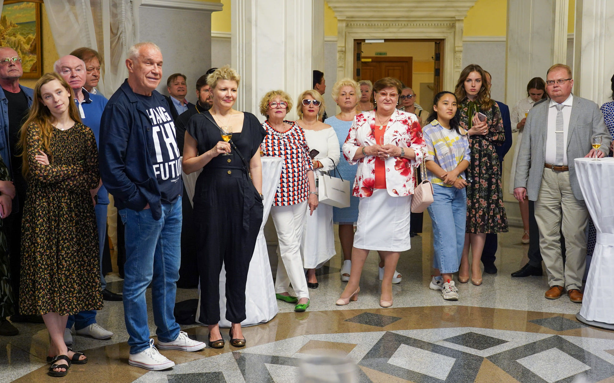 Торжественный прием артистов театра Современник в посольстве России в Казахстане