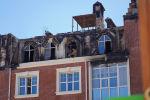 Британ орамы  тұрғын үй кешеніндегі өрттен кейінгі жағдай