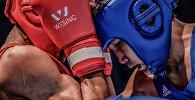 Боксеры на ринге, архивное фото
