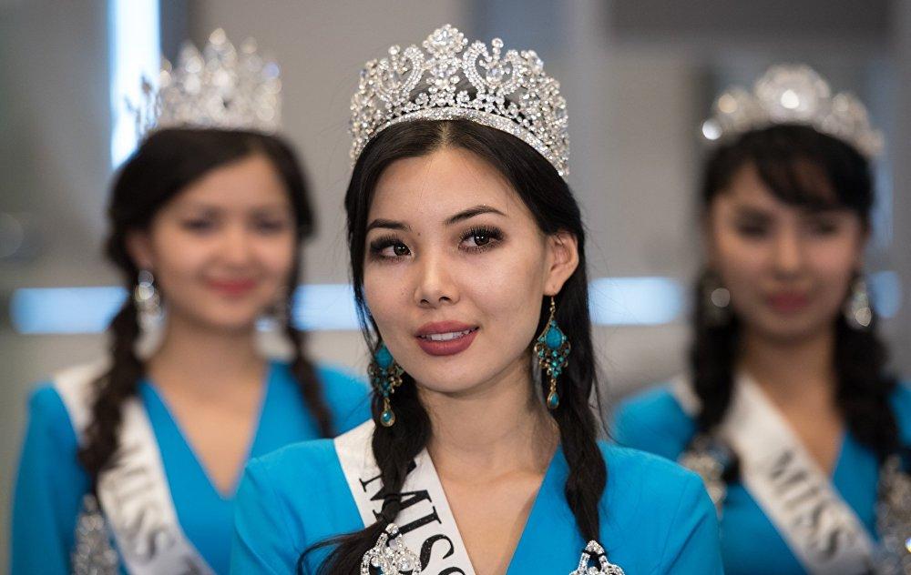 Участница конкурса Мисс Казахстан-2016