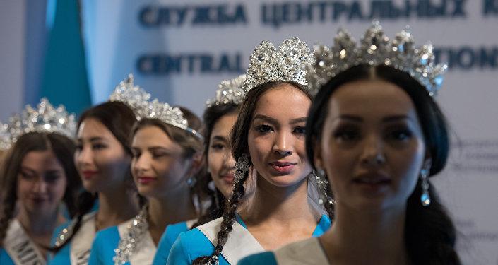 Участницы конкурса Мисс Казахстан-2016