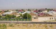 Строительство домов в Арыси, архивное фото