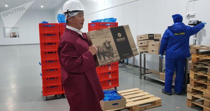 Готовая продукция нового мясоперерабатывающего завода в Щучинске