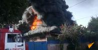 Склады горят в Алматы