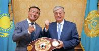 Глава Казахстана Касым-жомарт Токаев принял профессионального боксера Каната Ислама