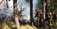 В Акмолинской области пожар локализован
