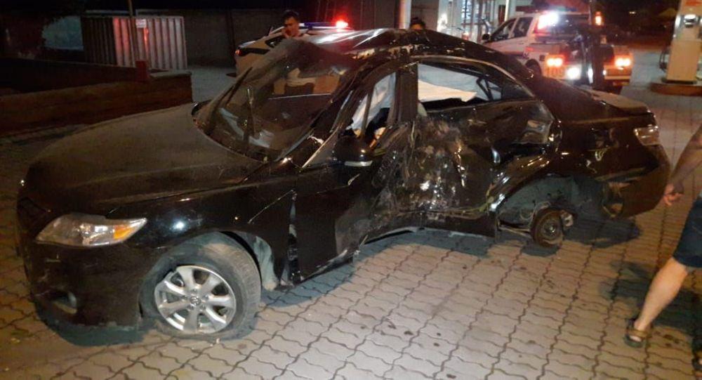 Водитель вдребезги разбил иномарку, взятую на прокат