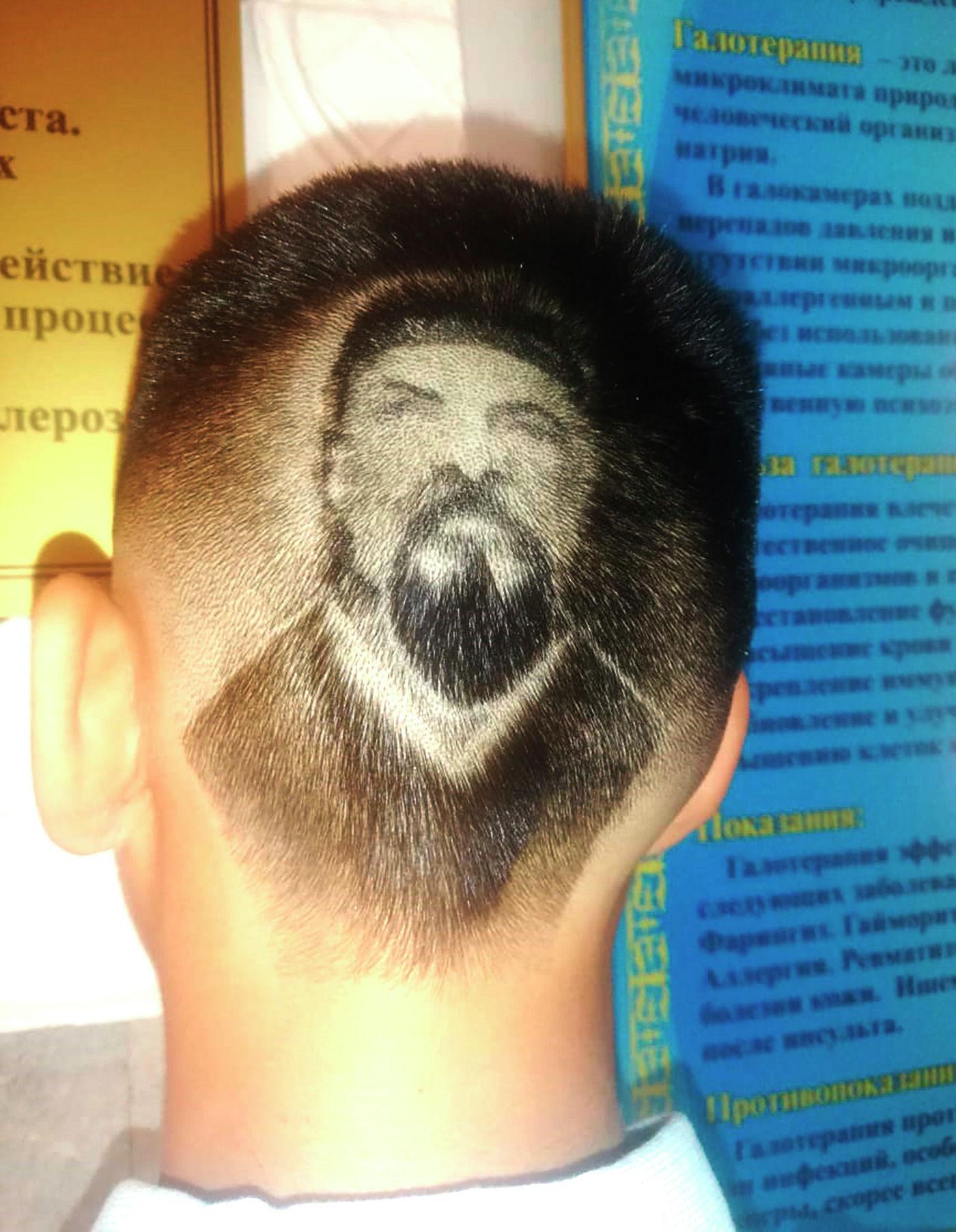Семиклассник из Жаркента с креативной стрижкой