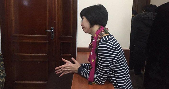 Супруга Юрия Пака в зале суда