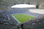 Общий вид нового футбольного стадиона Allianz Arena в Мюнхене