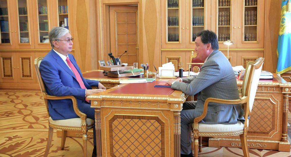 Встреча Касым-Жомарта Токаева и Аскара Мамина
