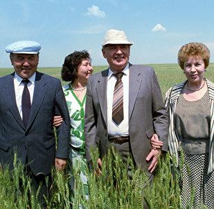 Рабочий визит Президента СССР Михаила Горбачева в Казахстан