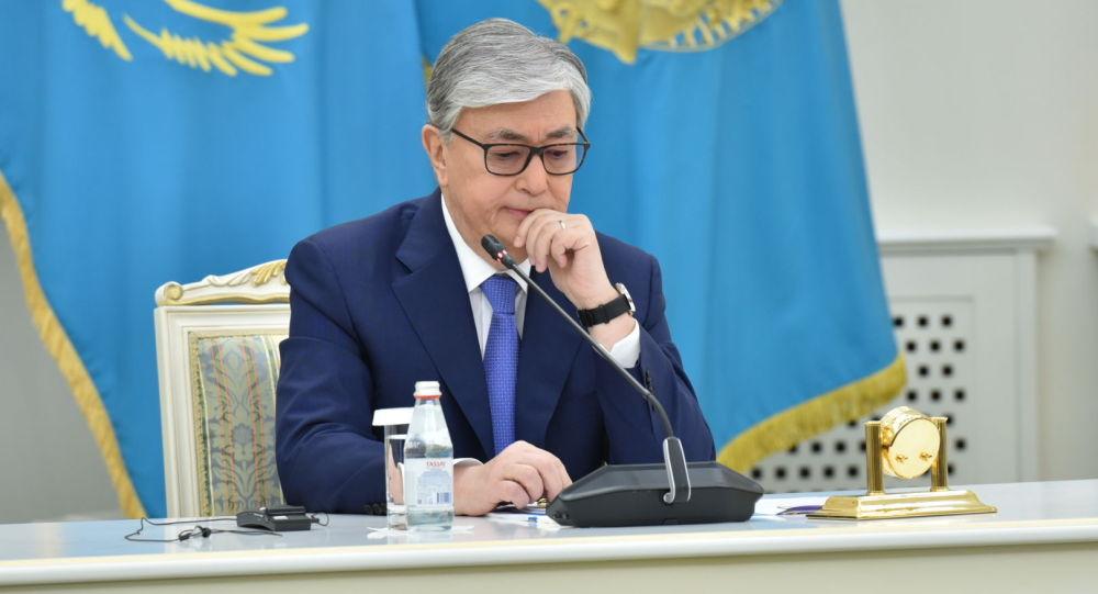 Касым-Жомарт Токаев после оглашения предварительных итогов выборов президента Казахстана, архивное фото