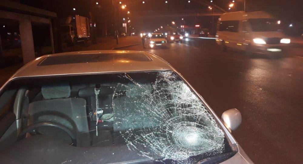Тойота сбила пешехода на пр. Рыскулова