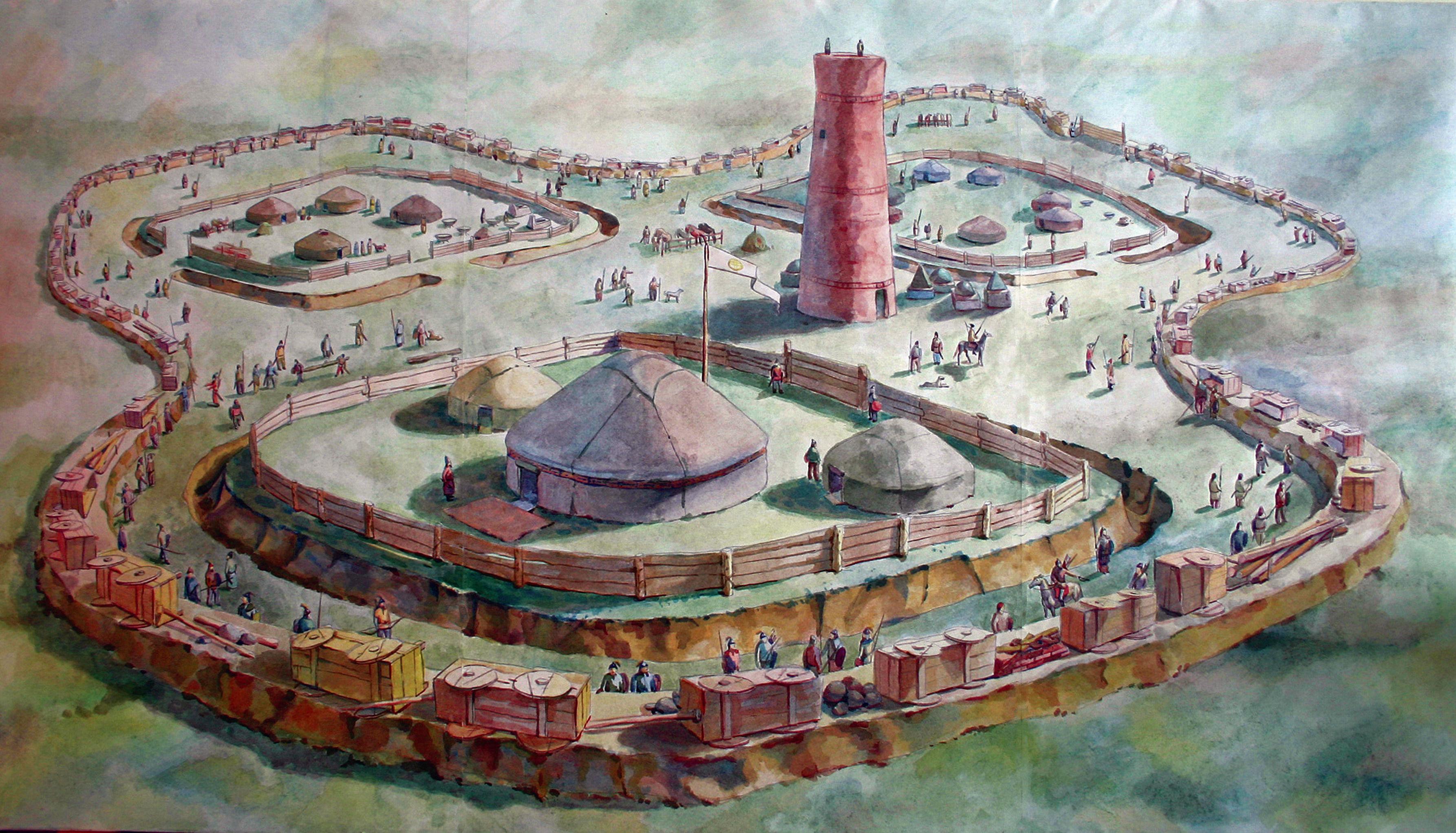 История городища Бозок началась в древнетюркскую эпоху