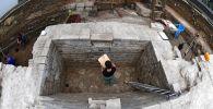 Археологические раскопки на территории Московского Кремля