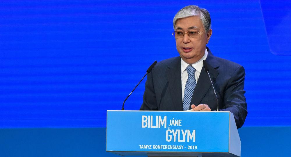 Глава государства Касым-Жомарт Токаев на августовской конференции