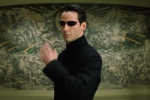 Киану Ривз, кадр из фильма Матрица