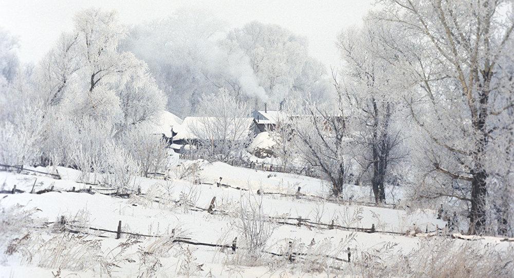 Архивное фото частных домов в снегу