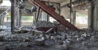 На месте взрыва в цехе по производству газобетонных блоков в селе Райымбек