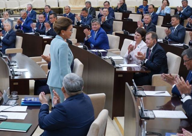 Дарига Назарбаева на заседании сената