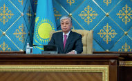 Президент Казахстана Касым-Жомарт Токаев на совместном заседании палат парламента