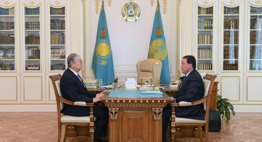 Президент Касым-Жомарт Токаев и премьер-министр Аскар Мамин