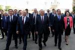 Президент РФ В. Путин и  премьер-министр РФ Д. Медведев приняли участие в торжествах по случаю Дня города Москвы
