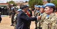 Казахстанские миротворцы получили медали ООН