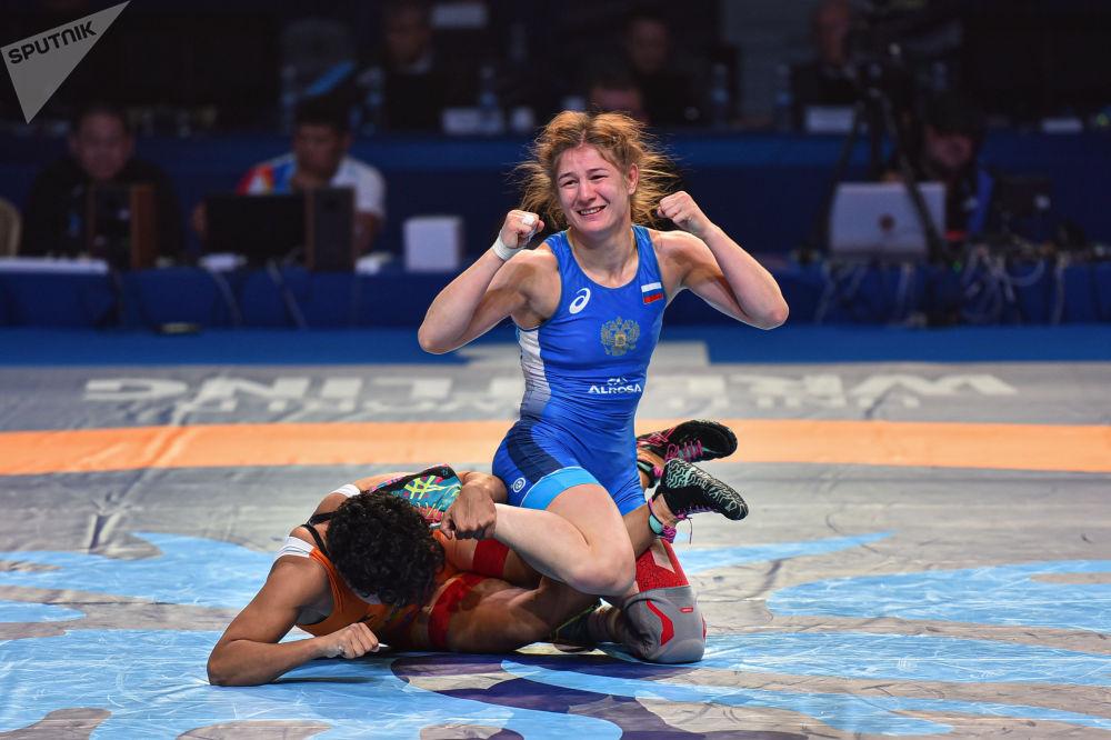 ЧМ по борьбе - WW 59kg - Dhanda /India - Овчарова /Россия