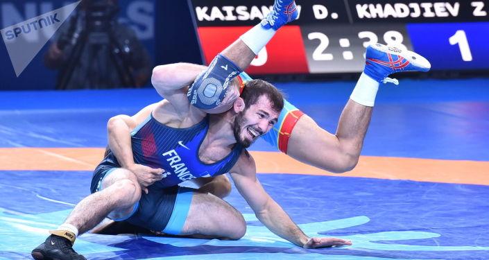 ЧМ по борьбе - финал - Данияр  Кайсанов (Казахстан) / Зелимхан Хаджиев (Франция)
