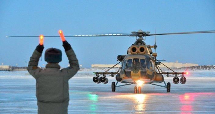 Вертолеты Ми-171Ш на авиационной базе в Астане