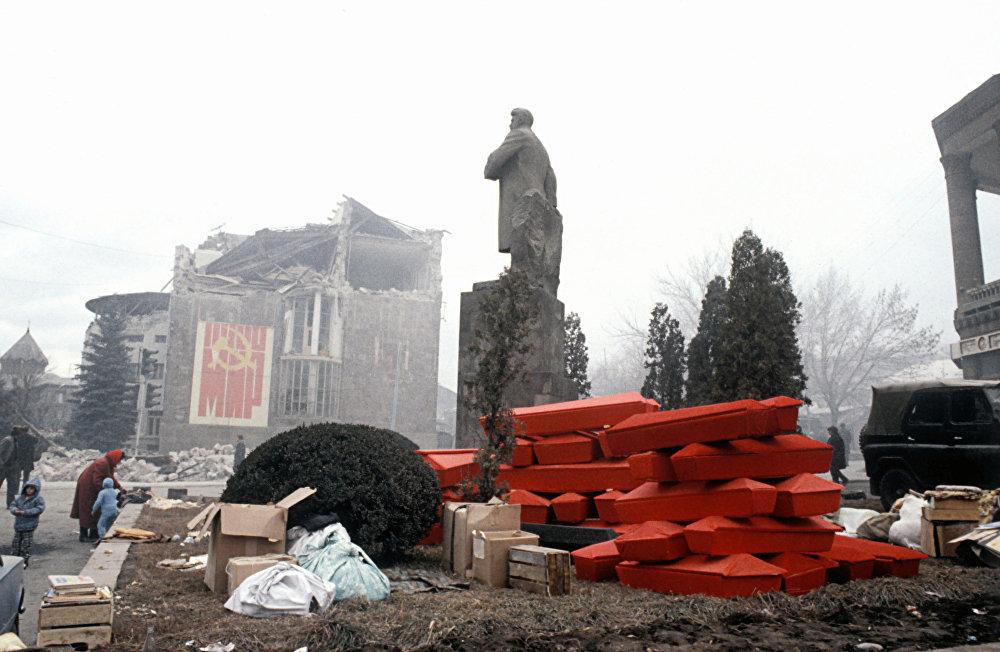 Ленинакан, разрушенный в результате землетрясения