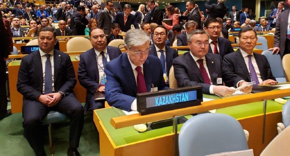 Касым-Жомарт Токаев на открытии Общих дебатов 74-й сессии Генеральной Ассамблеи ООН