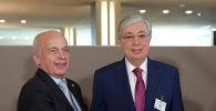 Глава государства Касым-Жомарт Токаев и президент Швейцарской Конфедерации Ули Маурер