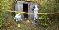 Криминалисты исследуют место убийства