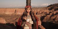 Мадина Батык во время съемок презентационного фильма о Казахстане